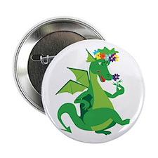 """Flower Dragon 2.25"""" Button"""