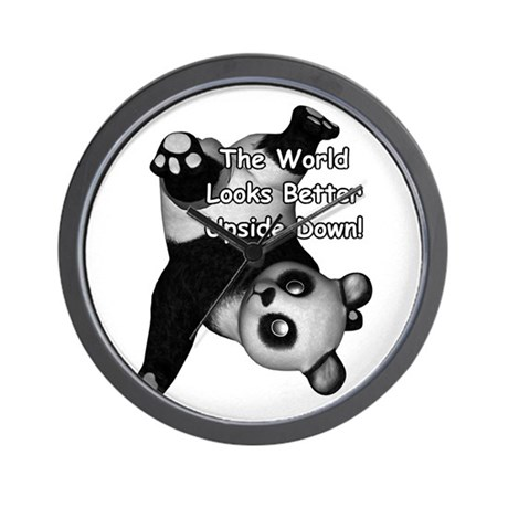 World Looks Better Upside Dow Wall Clock