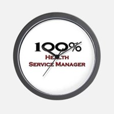 100 Percent Health Service Manager Wall Clock