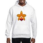 Orange Orchid Hooded Sweatshirt