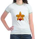 Orange Orchid Jr. Ringer T-Shirt