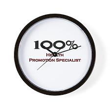 100 Percent Health Promotion Specialist Wall Clock