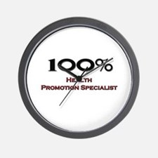 100 Percent Health Promotion Specialist Wall Clock