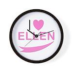 I Love Ellen Wall Clock