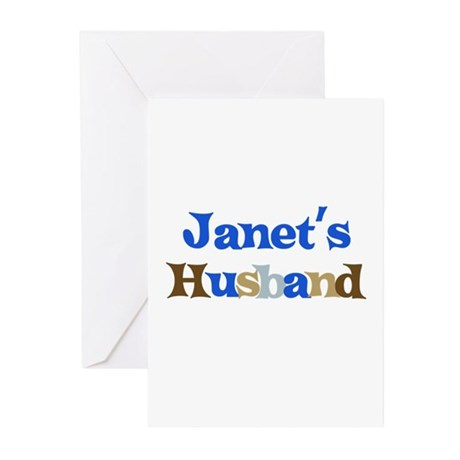 Janet's Husband Greeting Cards (Pk of 10)