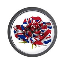 British Rose Wall Clock