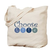 Choose Life (circles) Tote Bag