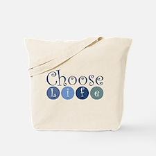 Choose Life (circles) Tote Bag