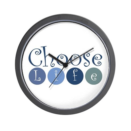 Choose Life (circles) Wall Clock