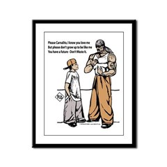 CARNALITO BY SMILEY Framed Panel Print