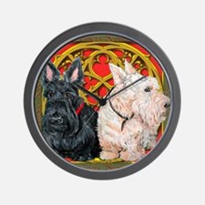 Scottish Terriers Wheaten Cel Wall Clock