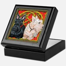 Scottish Terriers Wheaten Cel Keepsake Box