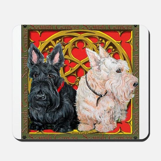 Scottish Terriers Wheaten Cel Mousepad