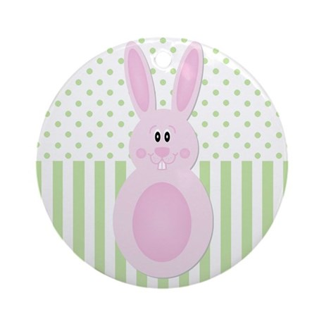 Easter Egg Bunny Ornament (Round)
