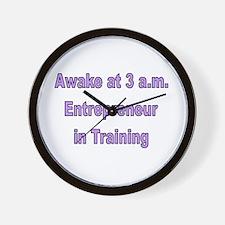 Funny Entrepreneur Wall Clock