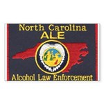 N.C. A.L.E. Rectangle Sticker 10 pk)