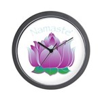 Namaste and Lotus Wall Clock