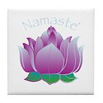 Namaste and Lotus Tile Coaster