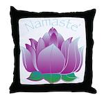 Namaste and Lotus Throw Pillow