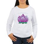 Namaste and Lotus Women's Long Sleeve T-Shirt