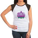 Namaste and Lotus Women's Cap Sleeve T-Shirt