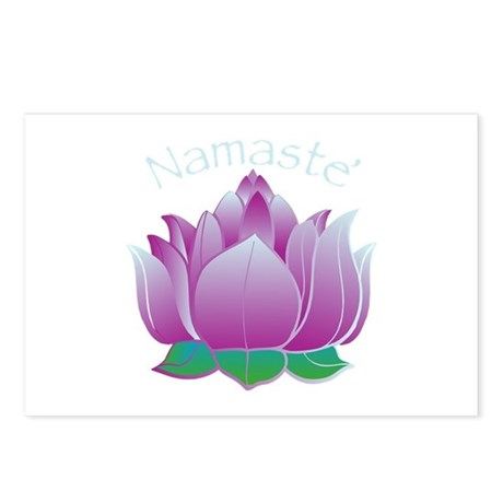 Namaste and Lotus Postcards (Package of 8)
