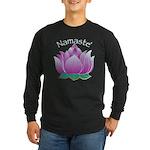 Namaste and Lotus Long Sleeve Dark T-Shirt