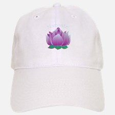 Namaste and Lotus Baseball Baseball Cap