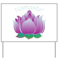 Namaste and Lotus Yard Sign