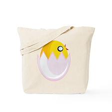 Easter Egg Chick Tote Bag