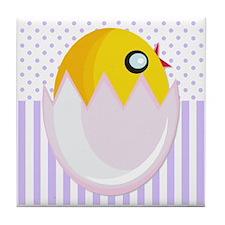 Easter Egg Chick Tile Coaster