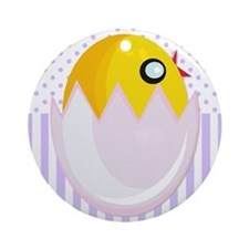 Easter Egg Chick Ornament (Round)
