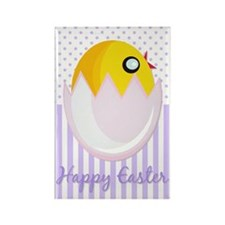 Easter Egg Chick Rectangle Magnet
