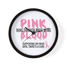 Pink Blood 1 (Mom) Wall Clock