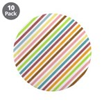 "UltraMod Retro Striped 3.5"" Button (10 pack)"