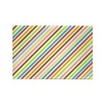UltraMod Retro Striped Rectangle Magnet (10 pack)