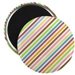 "UltraMod Retro Striped 2.25"" Magnet (100 pack)"