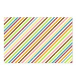 UltraMod Retro Striped Postcards (Package of 8)