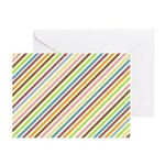 UltraMod Retro Striped Greeting Cards (Pk of 20)