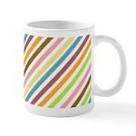 UltraMod Retro Striped Ceramic Coffee Mug