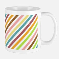 UltraMod Retro Striped Ceramic Coffee Mug