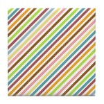 UltraMod Retro Striped Tile Drink Coaster