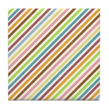 UltraMod Retro Striped Tile Drink Coaster