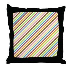 UltraMod Retro Striped Throw Pillow