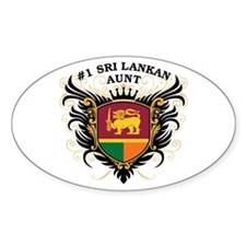 Number One Sri Lankan Aunt Oval Decal