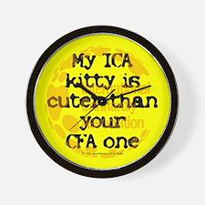 My ICA is cuter Wall Clock