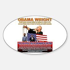 Anti Obama Oval Decal