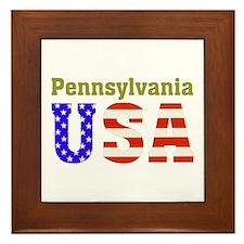 Pennsylvania USA Framed Tile