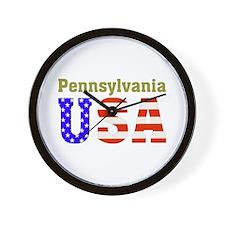 Pennsylvania USA Wall Clock