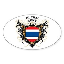 Number One Thai Aunt Oval Decal
